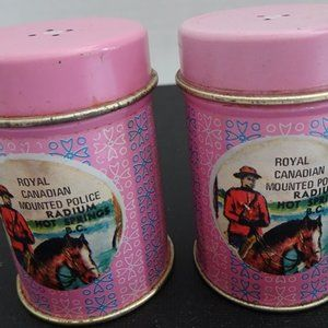 VINTAGE RCMP S&P TIN SHAKERS